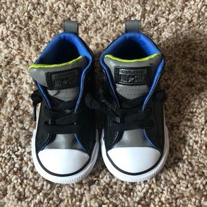 Brand new Leather Toddler converse - size 5